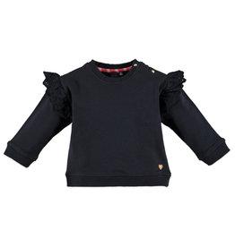 Shoulder Flutter Sweatshirt, Navy