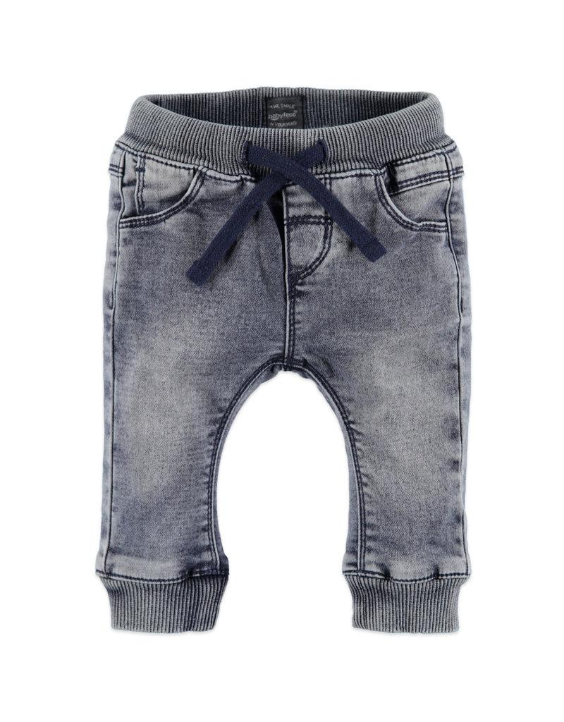 Baby Boys Jogg Jeans, Smoke Blue Denim