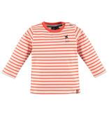 Boys Long Sleeve, Orange Red Stripe