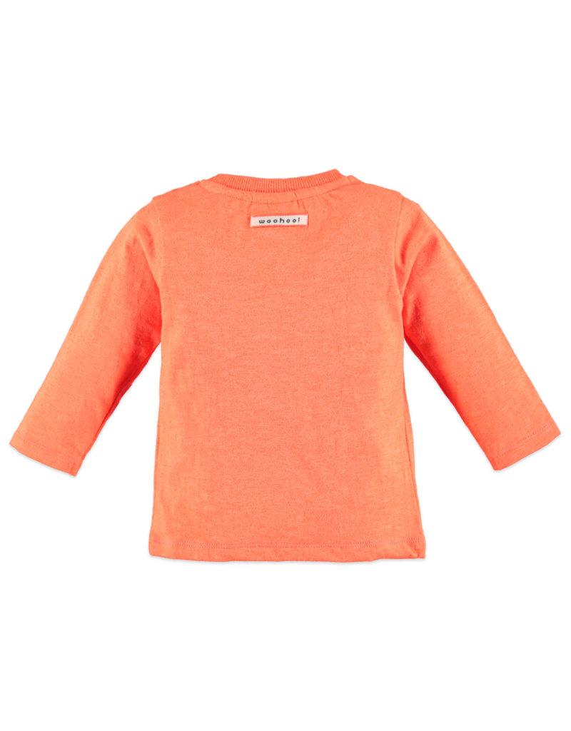Boys Long Sleeve Tee, Hi! Orange