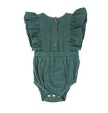 Organic Ruffle Bodysuit, Oasis
