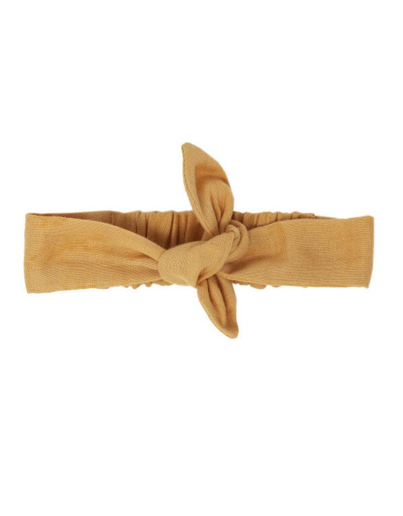 Organic Muslin Tie Headband, Apricot