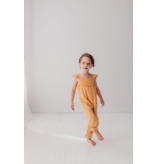 Organic Muslin Kids Sleeveless Romper, Apricot
