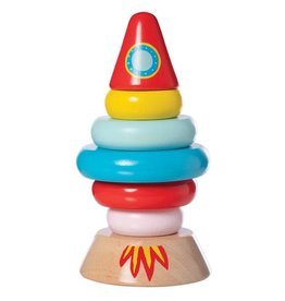 Manhattan Toy Magnetic Wood Stacker, Rocket