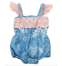 Miki Miette Willa Denim Romper