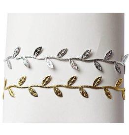 Metallic Leaf Headband
