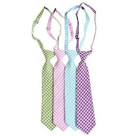 Gingham Neck Tie