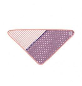 Purple Polka Dots Bandana Bib