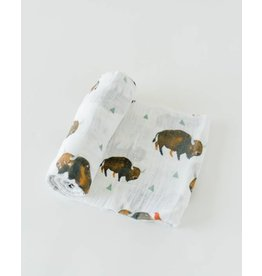 Cotton Swaddle - Bison