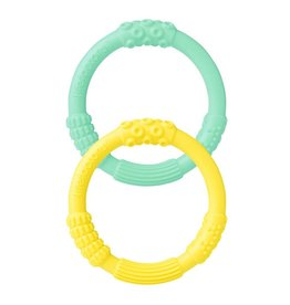 LifeFactory 2pk Teether Mint/Banana