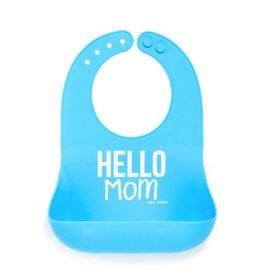 Wonder Bib - Hello Mom Blue