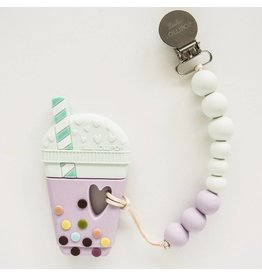 Bubble Tea Silicone Teether - Lilac Mint
