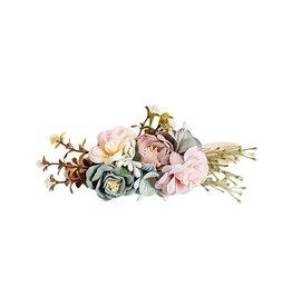 Floral Stretch Headband - Mauve & Seafoam