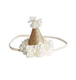 Birthday Cone Crown - Ivory