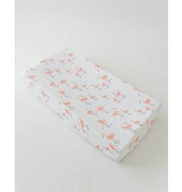 Brushed Changing Pad Cover - Pink Ladies