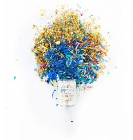 Gender Reveal Push Pop Confetti - Boy
