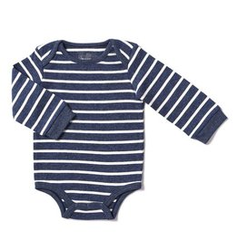Blue Shadow Stripe Bodysuit