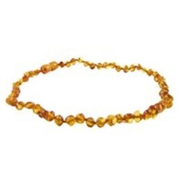 Teething Necklace - Honey 13""