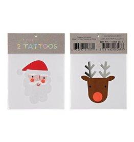 Santa + Reindeer Tattoo