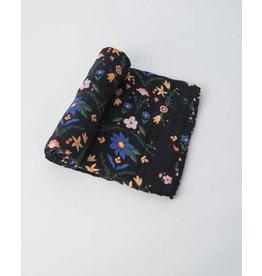 Cotton Swaddle - Floral Stitch