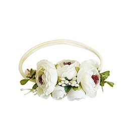 Floral Stretch Headband - Classic Ivory