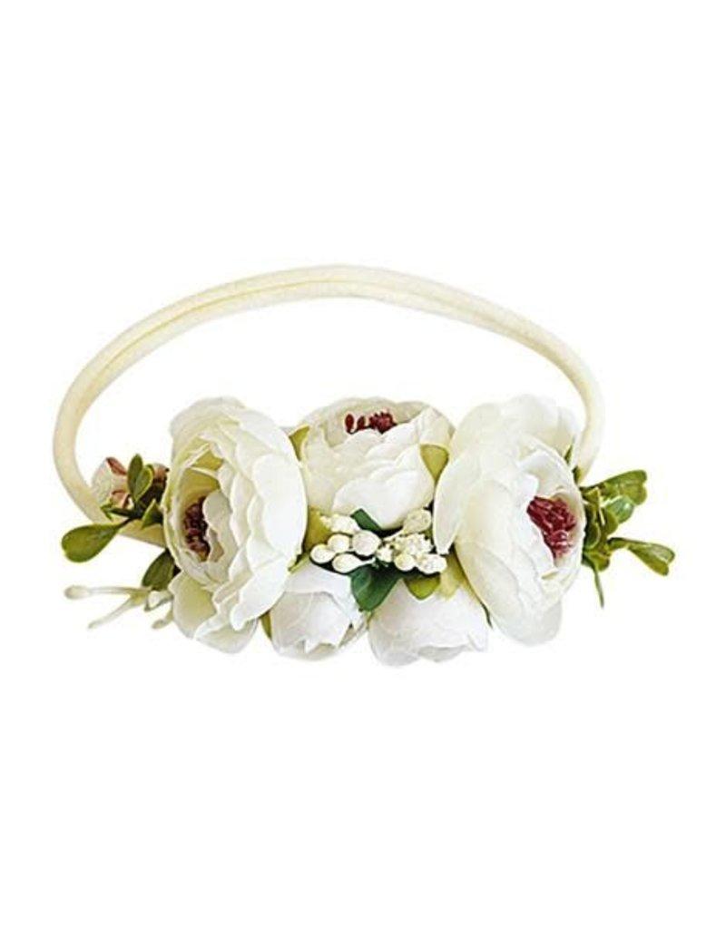 Floral Stretch Headband - Classic Ivory