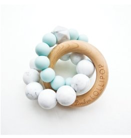 Trinity Wood & Silicone Teether, Robin's Egg Blue
