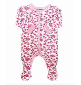Footed Sleeper - Pink Floral