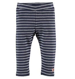 Stripe Leggings - Blue Indigo