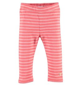 Stripe Leggings - Pink Flower