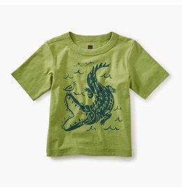 Alligator Baby Graphic Tee, Peridot