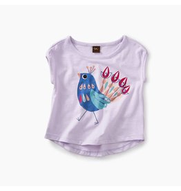 Peacock Graphic Baby Tee