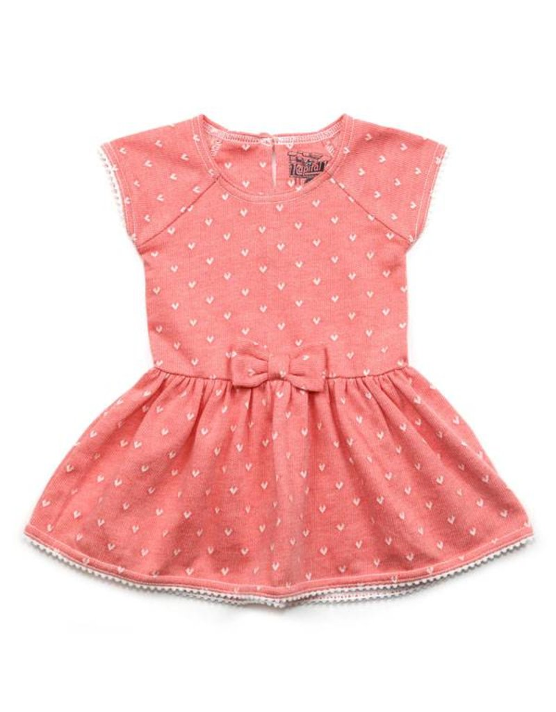 Rosy Hearts Baby Dress