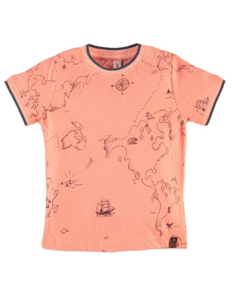 Atlas Boys Tee, Neon Orange