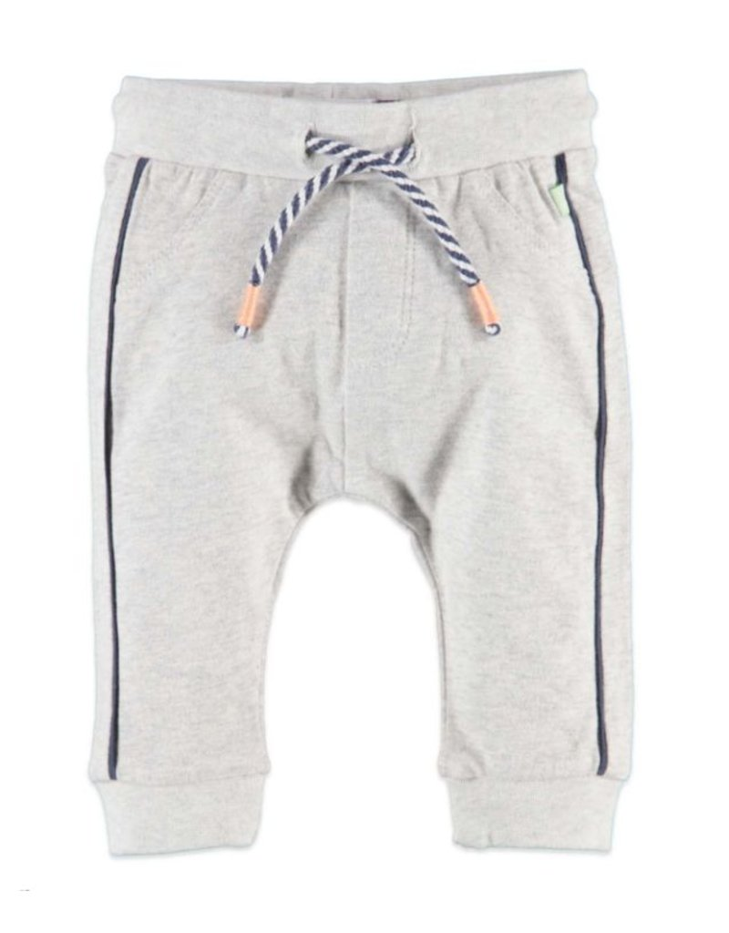 Navy Stripe Sweats, Cool Grey Melee