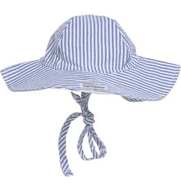 Floppy Hat - Chambray Stripe Seersucker