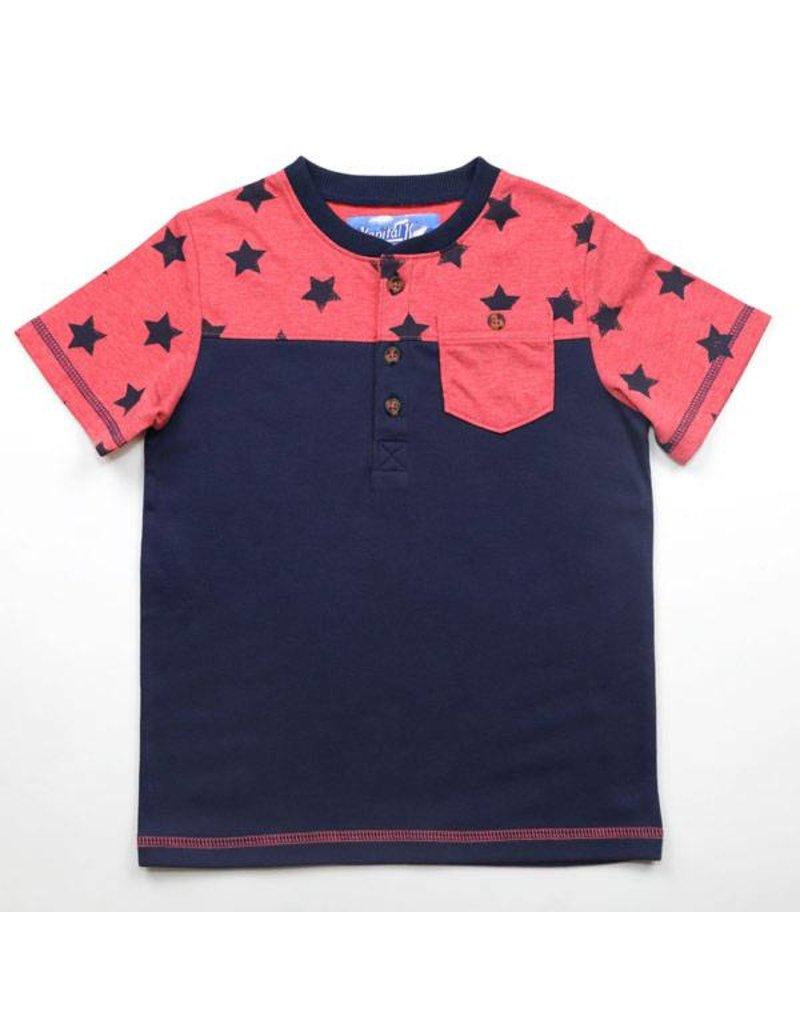 Colorblock Henley - Stars