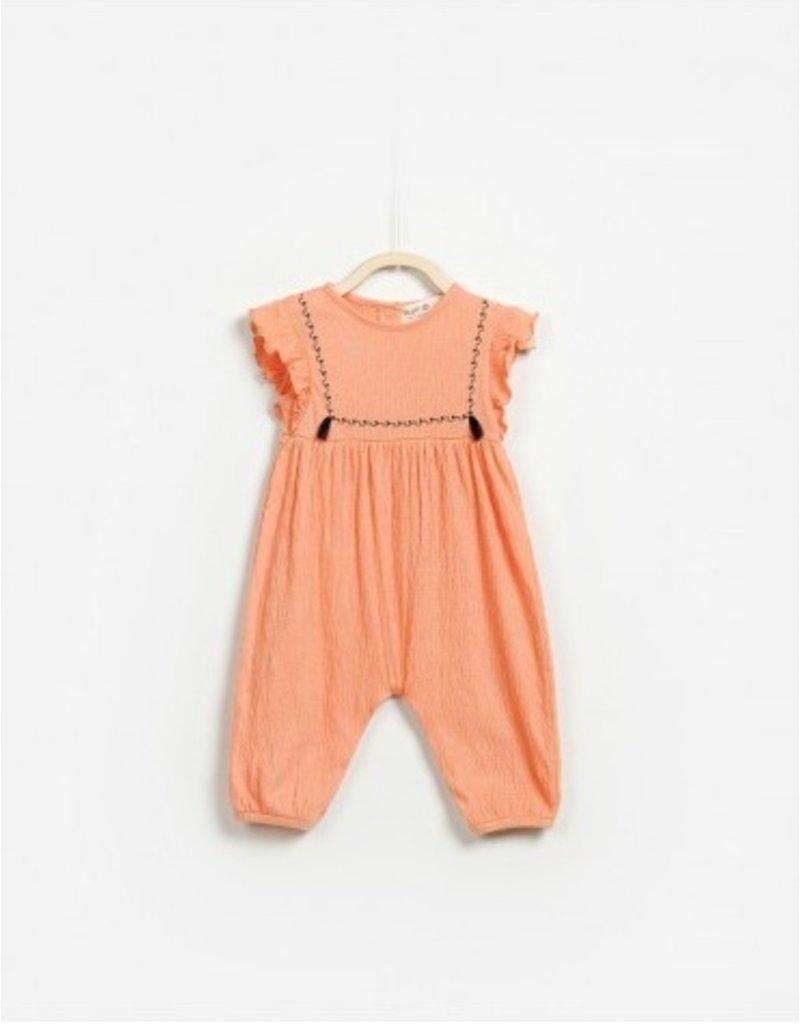 Woven Jumpsuit, Peach