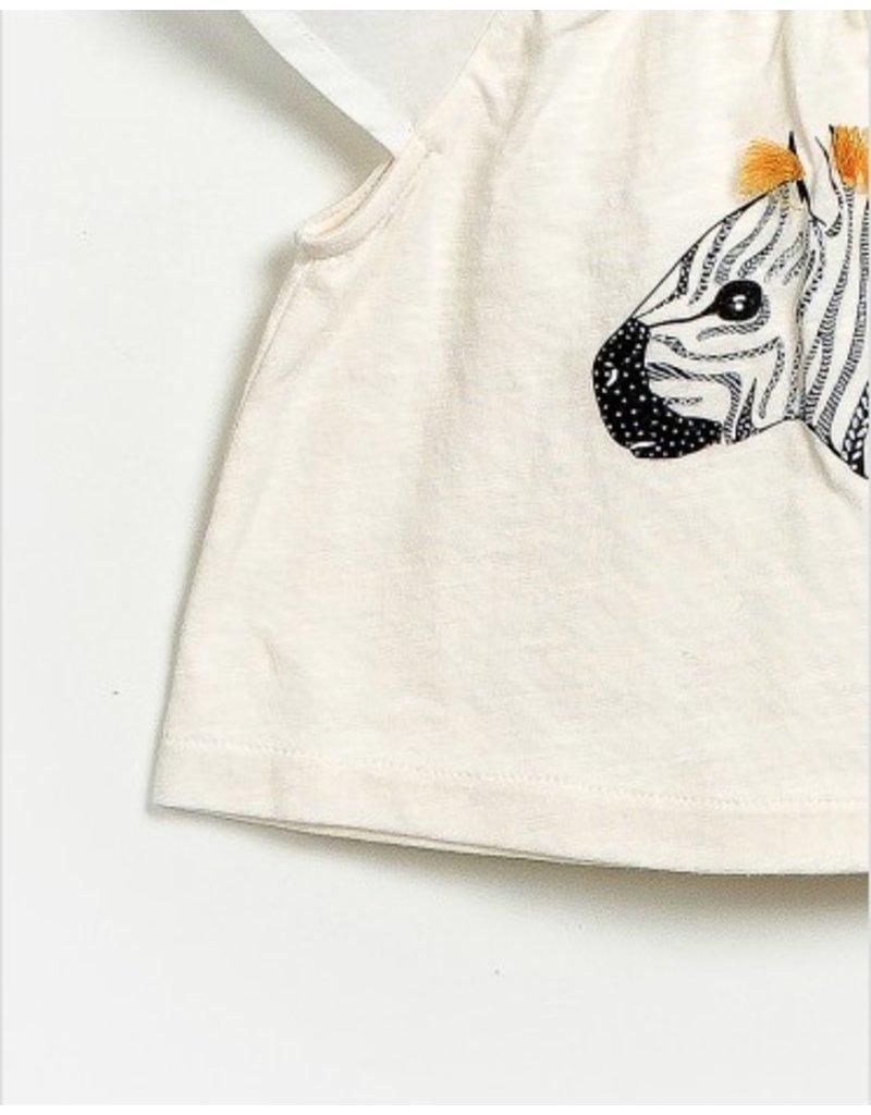 Zebra Head Top, Cream