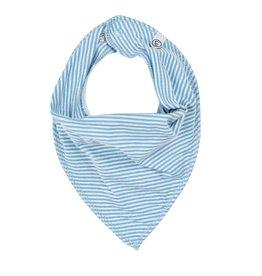 Organic Cotton Bib, Blue Stripe