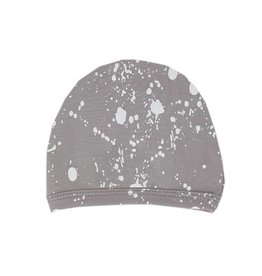 Organic Cute Cap, Light Gray Splatter