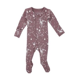 Organic Footed Sleeper, Lavender Splatter