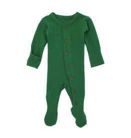 Organic Thermal Footed Sleeper, Emerald