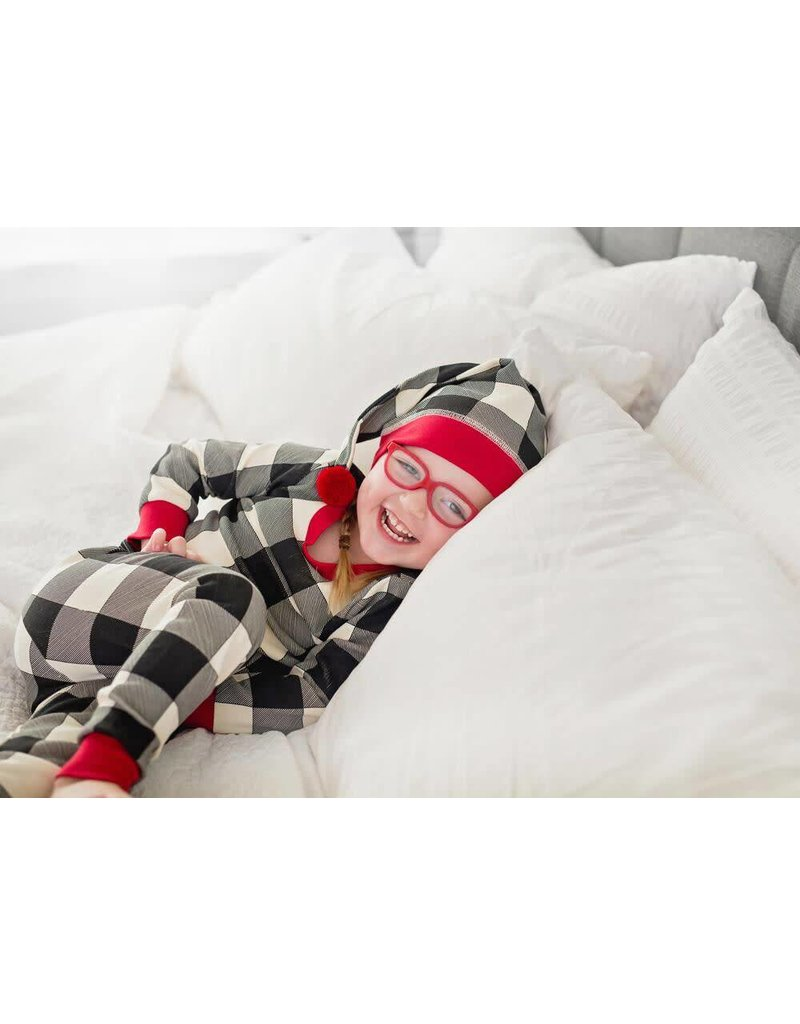 Organic Kids PJ & Cap Set, Buffalo Check