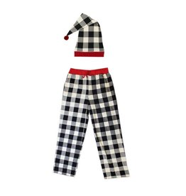 Organic Men's PJ Pants & Cap, Buffalo Check