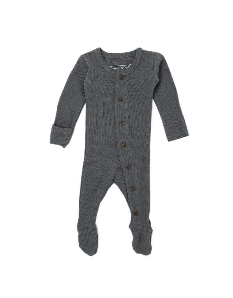 Organic Thermal Footed Sleeper, Graphite