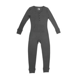 Organic Thermal Women's Onesie, Graphite