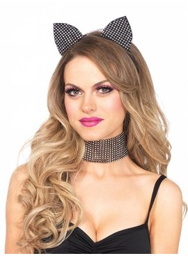 1 Rhinestone Cat Ears