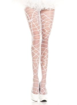 1 White Spider Web Stockings