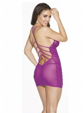 Ruched Sheer Chemise